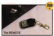 wireless remote key fob turns on and off the lithium-ion battery