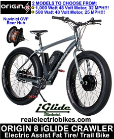 Sweet electric mountain/ cruiser bike - Origin 8 Crawler Fat Tire Bike...