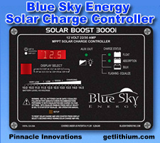 Click here for Blue Sky Energy and OutBack Power MPPT solar charge controllers and solar power solutions...